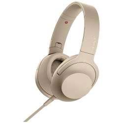 SONY(ソニー) ヘッドホン h.ear on 2 ペールゴールド MDR-H600A [リモコン・マイク対応 /φ3.5mm ミニプラグ /ハイレゾ対応] MDRH600ANC