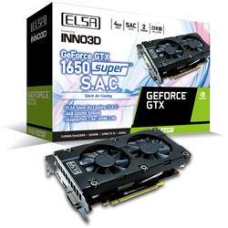 ELSA(エルザ) グラフィックボード GeForce GTX 1650 Super SAC GD1650-4GERSS [4GB /GeForce GTXシリーズ] GD16504GERSS