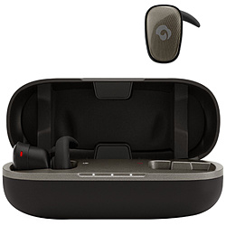 GLIDiC(グライディック) Sound Air SPT-7000 グレイッシュブラック SBWS73MRTWBK【IPX5防水】【本体8時間再生】【片耳6.9g】【スポーツ向け】完全ワイヤレスイヤホン カナル型 SBWS73MRTWBK