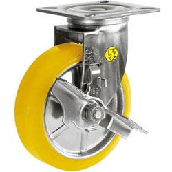 シシクアドクライス SUNJB-150-SEUW シシク ステンレスキャスター 制電性ウレタン車輪自在ストッパー付 SUNJB150SEUW