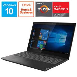 Lenovo(レノボジャパン) ノートPC ideapad L340 81LW002RJP グラナイトブラック [Ryzen 3・15.6インチ・Office2019付き・SSD 128GB・メモリ 4GB] 81LW002RJP