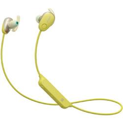 SONY(ソニー) bluetooth イヤホン カナル型 イエロー WI-SP600N YM [リモコン・マイク対応 /ワイヤレス(左右コード) /Bluetooth /ノイズキャンセリング対応] WISP600NYM