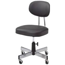 トラスコ中山 事務椅子 ビニールレザー張り ブラック L2095 L2095