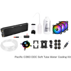 Thermaltake Pacific C360 DDC Soft Tube Water Cooling Kit CL-W253-CU12SW-A (C360ラジエーターモデル) CLW253CU12SWA