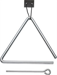 【KC】トライアングル 1辺15cm 打棒 吊り革付 TA-900