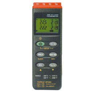 【マザーツール MT】4チャンネルデジタル温度計(データロガー内蔵型) 2-1960-01 MT-309
