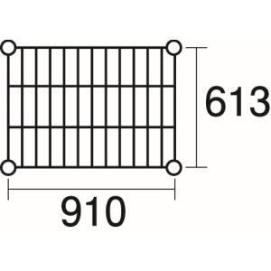 【エレクター ERECTA】エレクター ERECTA 棚板(ステンレスエレクターシェルフ用) 3-344-05 SLS910
