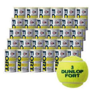 【ダンロップ DUNLOP】テニスボール FORT フォート ケース 30缶 60球入り 1箱 箱売 プレッシャーボール