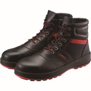 【シモン Simon】シモン 安全靴 編上靴 SL22-R黒/赤 24.5cm SL22R-24.5