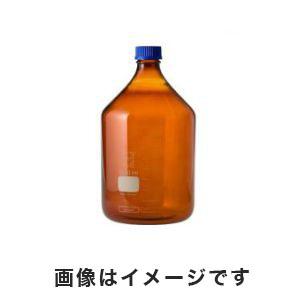 【柴田科学 SIBATA】ねじ口瓶丸型茶褐色(デュラン(R)・017210) 5000mL 1-1961-12