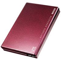 【アイ・オー・データ(IODATA)】USB 3.0/2.0対応ポータブルハードディスク 500GB ボルドー HDPC-UT500BRE