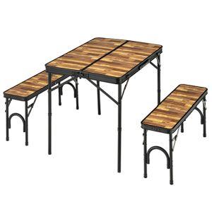 【カワセ】カワセ BUNDOK バンドック テーブル&ベンチセット BD-230WB