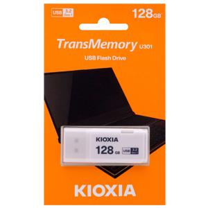 メール便3個まで対象商品 時間指定不可 キオクシア Kioxia 海外パッケージ USBメモリ LU301W128GG4 代引き不可 Gen1対応 128GB USB3.2