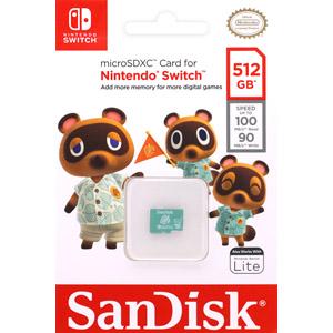 メール便1個まで対象商品 サンディスク SanDisk 海外パッケージ マイクロSDXC 512GB Nintendo SDSQXAO-512G-GNCZN Switch 新色追加して再販 microsd ☆送料無料☆ 当日発送可能 UHS-I class10