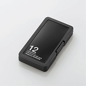 メール便3個まで対象商品 エレコム ELECOM 18%OFF CMC-SDCPP12BK SD6枚+microSD6枚収納 インデックス台紙付き ブラック 驚きの価格が実現 メモリカードケース