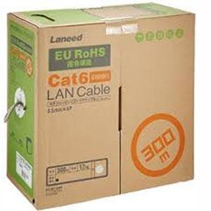 【エレコム(ELECOM)】RoHS対応LANケーブル/CAT6/300m/ライトグレー/コネクタなし/リレックス LD-CT6/LG300/RS