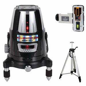 【シンワ測定】レーザーロボ Neo 41 BRIGHT(縦・横・大矩・通り芯・地墨) 受光器・三脚セット 77609