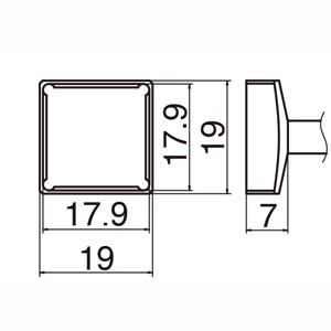 【白光 HAKKO】T12シリーズ交換こて先 T12-1204 クワッド