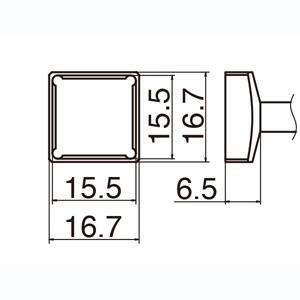 【白光 HAKKO】T12シリーズ交換こて先 T12-1207 クワッド