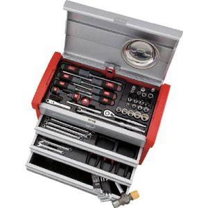 【KTC 京都機械工具】工具セット (チェストタイプ) 66点 SK3650E