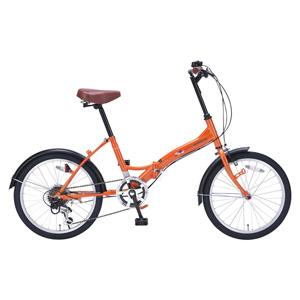 送料無料!!【マイパラス MYPALLAS】折畳自転車 20 6SP M-209 OR オレンジ 【メーカー直送 代引き不可】【smtb-u】