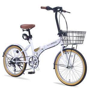 送料無料!!【マイパラス MYPALLAS】折畳自転車 20 6SP オールインワン M-252 W ホワイト 【メーカー直送 代引き不可】【smtb-u】