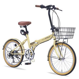 送料無料!!【マイパラス MYPALLAS】折畳自転車 20 6SP オールインワン M-252 NA ナチュラル 【メーカー直送 代引き不可】【smtb-u】
