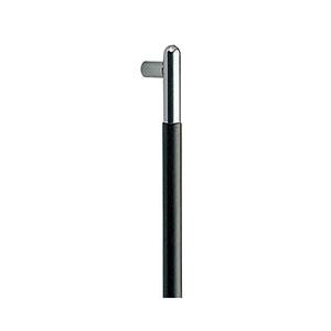【シロクマ】T形丸棒取手660ミリクローム/黒ウッド