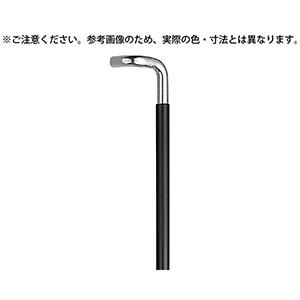 【シロクマ】L型丸棒取手 600mm クローム/黒ウッド NO-254L