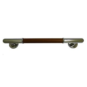 【シロクマ】丸棒ニギリバー600ミリ鏡面/ブラウン
