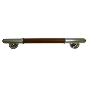【シロクマ】丸棒ニギリバー450ミリ鏡面/ブラウン