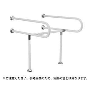 【シロクマ】C型丸棒手すり(洗面器用)ライトオーク