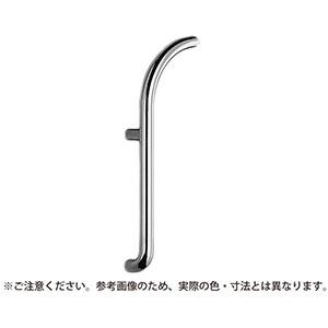 【シロクマ】J形丸棒取手 550ミリ 右 ミガキ