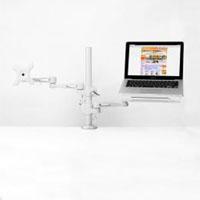 【サンコー】サンコー ノートパソコン&サブモニター用ダブルアーム MARMGUS3360S