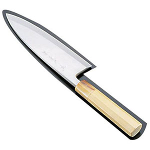 【青木刃物製作所】堺孝行 シェフ和庖丁 銀三鋼 出刃 15cm ASE04035