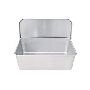 【タマチュウ】アルマイト 重なるパン箱(蓋付) TA-40(35~45人対応) APV4901