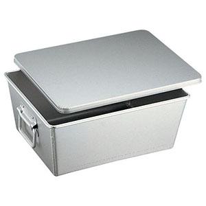 【オオイ金属】アルマイト 溶接給食用パン箱(蓋付) 260-B 20個入 APV21