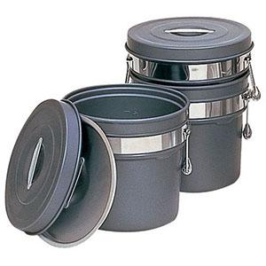 【オオイ金属】段付二重食缶(内外超硬質ハードコート) 245-H (6L) ASY58245