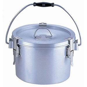 【オオイ金属】シルバーアルマイト丸型二重クリップ付食缶 237-H (4L) ASYA101