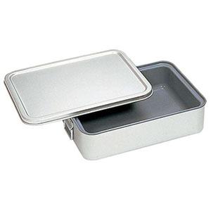 【オオイ金属】アルマイト 角型二重米飯缶 (蓋付) (内面スミフロン)264-DS ABI112