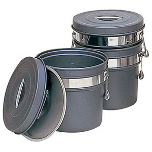 【オオイ金属】段付二重食缶(内外超硬質ハードコート) 248-H(12L) ASY58248