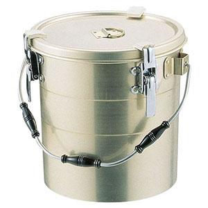 【オオイ金属】アルマイト 丸型二重クリップ付食缶 238-A (10L) ASY15238