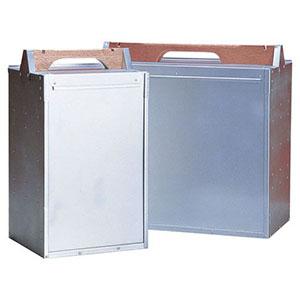 【アカオアルミ】アルミ 出前箱 横4段 ADM0807