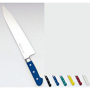 【實光】堺實光 STD抗菌PC 牛刀(両刃) 24cm 黒 51506 AZT7013
