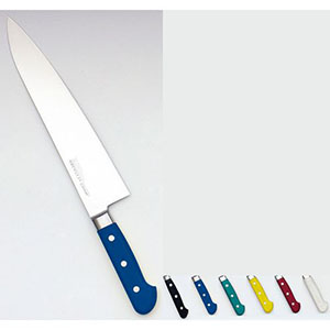 【實光】堺實光 STD抗菌PC 牛刀(両刃) 30cm 黄 56088 AZT7028