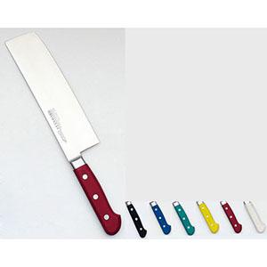 【實光】堺實光 STD抗菌PC 菜切(両刃) 18cm 赤 56145 AZT7405