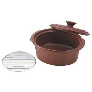 【トーセラム】ニュートーセラム 両手鍋小判型 24cm TSR-190OPM-S(茶) QTC8202