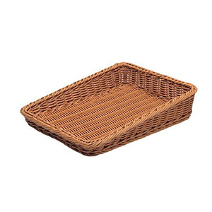 【萬洋】樹脂製太渕ディスプレイかご 傾斜型 大 茶 91-027A WKG3801