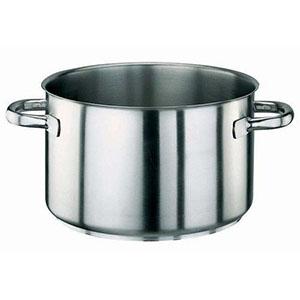 【パデルノ】パデルノ 18-10半寸胴鍋(蓋無) 1007-40 AHV8740