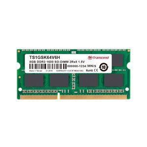 送料無料!!【トランセンド(Transcend)】【SO DIMM ノートPC用】【DDR3-1600 PC3-12800】【8GB】TS1GSK64V6H【smtb-u】